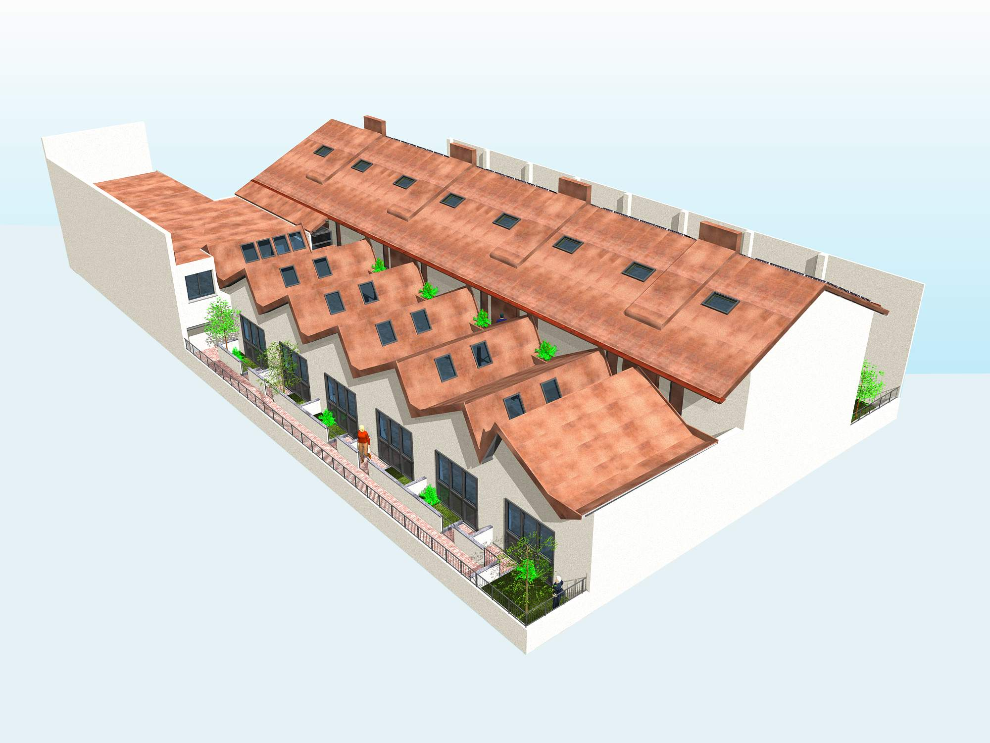 co-housing xlam acciaio milano