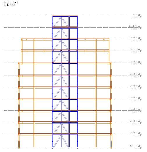 hibrid timber steel tower