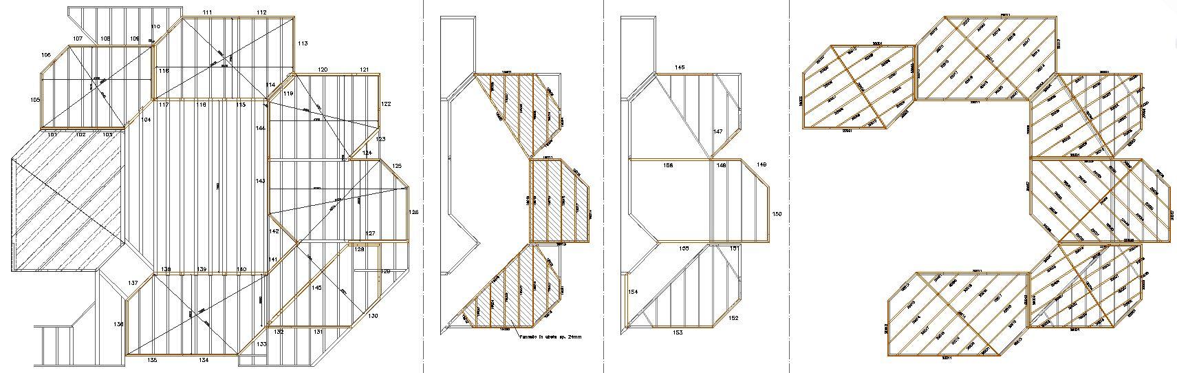 struttura telaio legno verona