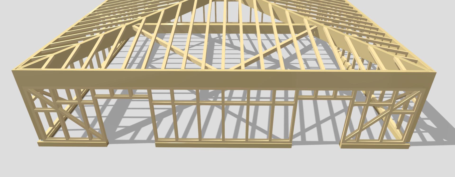 capannone legno lamellare
